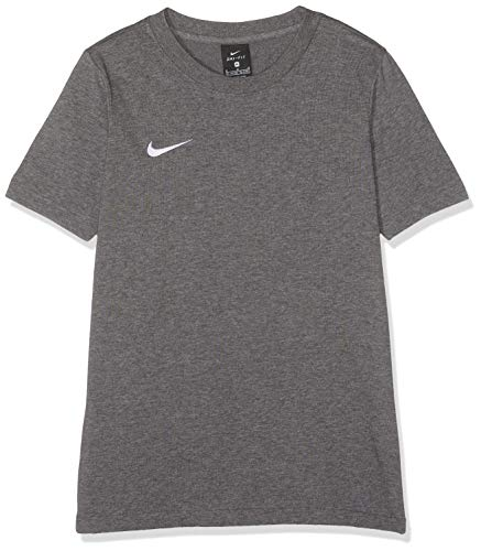 Nike Team Club 19 Tee T-Shirt Mixte Enfant, Gris (Charcoal Heather/Charcoal Heather/White 071), FR : S (Taille Fabricant : S)