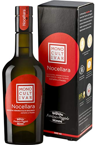 Monini Olio Extra Vergine di Oliva Monocultivar Nocellara, Gusto Fresco e Pungente - Pacco da 3 x 500 ml