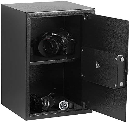Xcase Möbeltresor: Großer-Stahlsafe mit digitalem Code-Schloss und LCD-Display, 50 Liter (Tresore)
