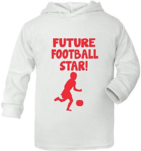 Future Football Star Sport Super Doux bébé Sweat à capuche - Blanc - 6-12 mois