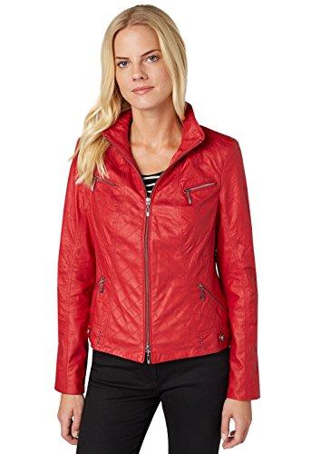 Bonita Damen Langarm, Leder Jacke, Rot (Scarlet Red 4554), 40