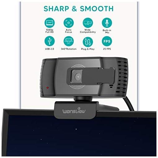 Wansview Webcam 1080p Autofocus con Microfonos de Reducción de Ruido, USB Webcam Plug and Play con Clip Giratorio, Full… 2