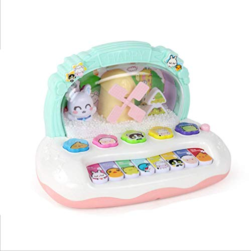 WYFDM Kinder-Musik-Keyboard Fantasy Ice Snowflake Teaching Musical Instrument Infant Electric Small Piano Flash Toy