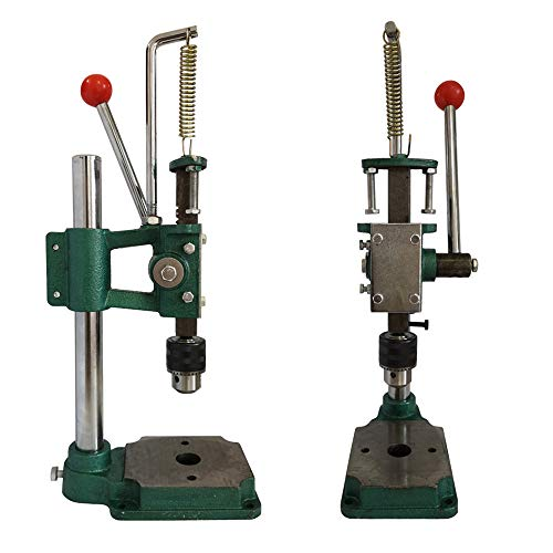 Soiiw Leather Hole Puncher Hand Punching Machine Heavy Duty Manual Press Puncher Punch Tools for DIY Leather Craft Punching Holes with 1.5-13mm Clamping Chuck