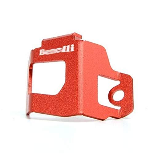 GUIFUG Protector de la Tapa de la Cubierta de la Cubierta del líquido del Freno Trasero de Aluminio Trasero de la Motocicleta para Benelli 752S TNT 302S / BN302 / Leoncino 250 BJ250 (Color : Red)