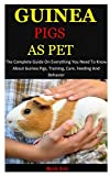 Guinea Pigs As Pet: The Complete Guide On Everything You Need To Know About Guinea Pigs, Training, Care, Feeding And Behavior