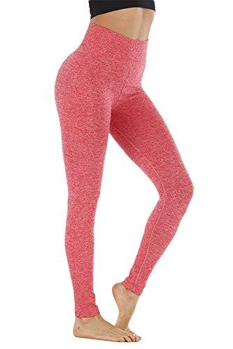 SotRong Mallas Pantalones Deportivos Leggings Mujer Yoga de Alta Cintura Elásticos y...