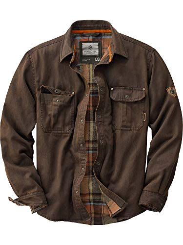 Legendary Whitetails Men's Journeyman Rugged Shirt Jacket Tobacco X-Large
