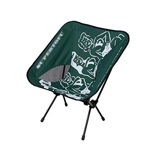 WXIANG Faltstuhl Outdoor Folding Camping Chair Director Stuhl Atmungsaktiv hoher Rücken Kompakter Klappstuhl für Campingucksackwanderung Tragbar