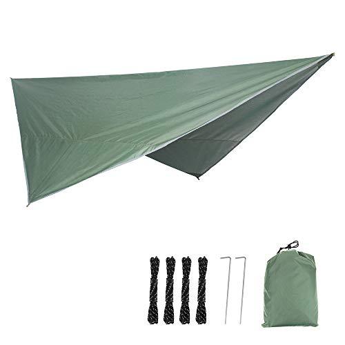WXYLYF Tarp Shelter Portable Léger Camping Tente Tapis Housse Étanche Pare-Soleil Camping Équipement Essentiel Survie Gear Stakes,Vert