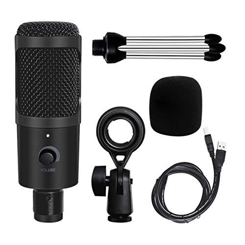 N-B Trípode de Estudio de grabación Micrófono USB Micrófono de PC El micrófono de grabación se Puede Utilizar para admitir podcasts de transmisión de Juegos y computadoras de Escritorio.