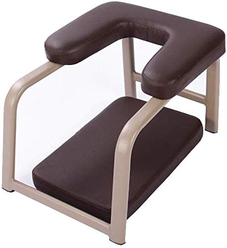 Fantastic Prices! ZHWGS Yoga Chair Headstand Bench Yoga Inverted Stool, Leather Inverted Chair Fitne...