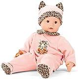 Götz 2027901 Maxy Muffin Tigeresque Puppe - 42 cm große Babypuppe mit braunen Schlafaugen, ohne Haare und Weichkörper - Weichkörperpuppe in 4-teiligen Set