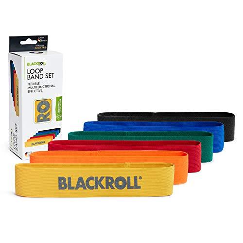 BLACKROLL Loop Band - Fitnessband Trainingsband Gymnastikband Sportband mit 6 Dehnbarkeiten in gelb, orange, rot, grün, blau und schwarz