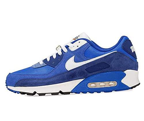 Nike Air MAX 90 SE, Zapatillas de Running Hombre, Signal Blue White Game Royal, 40.5 EU