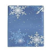 Carrozza ブックカバー 文庫 新書 雪柄 クリスマス 本カバー 16x22cm おしゃれ かわいい PUレザー 革
