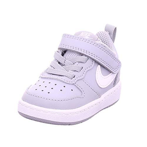Nike Court Borough Low 2 (TDV), Scarpe da Ginnastica, Wolf Grey/White, 23.5 EU