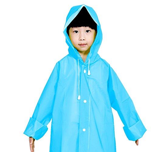 Vestes anti-pluie QFF Child Raincoat Boys and Girls Princess Baby Student Poncho (Couleur : Bleu, Taille : L)