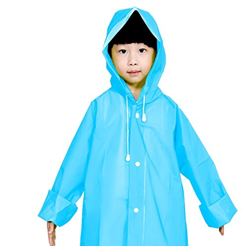 Vestes anti-pluie QFF Child Raincoat Boys and Girls Princess Baby Student Poncho (Couleur : Bleu, Taille : L)