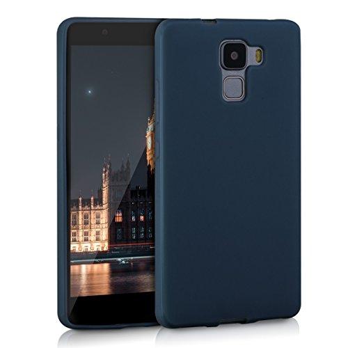 kwmobile Huawei Honor 7 / Honor 7 Premium Hülle - Handyhülle für Huawei Honor 7 / Honor 7 Premium - Handy Case in Dunkelblau matt