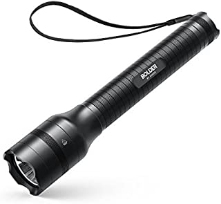 Anker Bolder LC90 2-Cell Rechargeable Flashlight, IP65 Water-Resistant, Zoomable, LED Torch (for Camping and Hiking) with Super Bright 900 Lumens CREE LED, 5 Light Modes, 18650 Battery Included