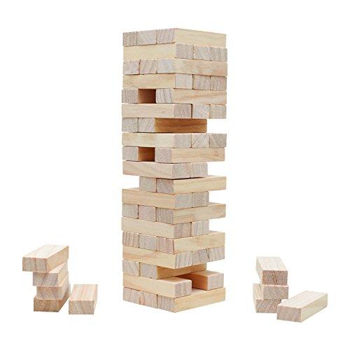 Halmakegel.com Verflixter Turm - Wackelturm - Kiefer - Höhe 285mm