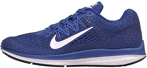 Nike Men's Zoom Winflo 5 Gym Blue/White/Obsidian Running Shoe 8.5 Men US