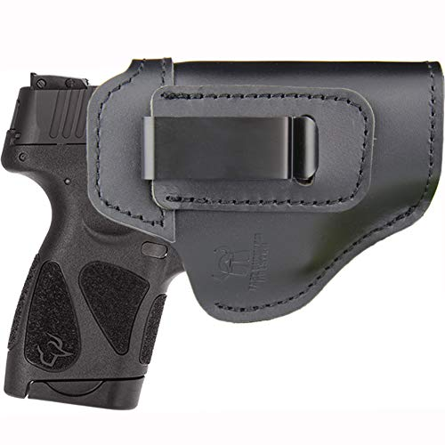 IWB Leather Holster for Inside Waistband Concealed Carry Fits:Taurus G2C G3C / G2S / TH9c TH40c Compact / PT111 Millennium G2 / 709 740 Slim or Similar Sized Pistols