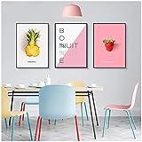 Früchte Bilder Avocado Ananas Erdbeer Kiwi Poster
