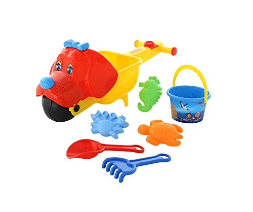 Wader Tina Toddler Wheelbarrow Toy with Bucket/Spade/Rake and Sand Moulds