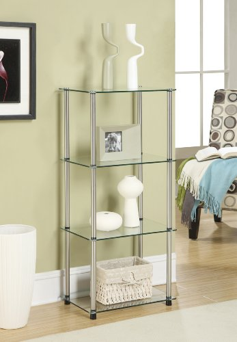 Convenience Concepts Designs2Go Classic Glass 4 Tier Tower, Glass