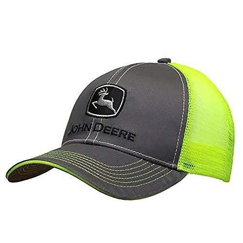 John Deere 6965 Baseball, Charcoal/Neon Yellow, One Size