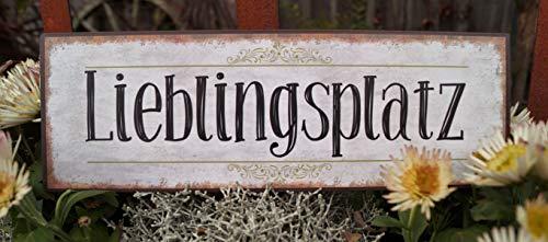 Unbekannt Metall Schild 30x10cm Lieblingsplatz Nostalgie Wandschild Wohnen