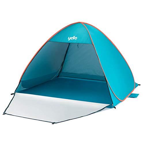 Yello Small Pop Up Beach Tent, Outdoor Sun shelter, Blue