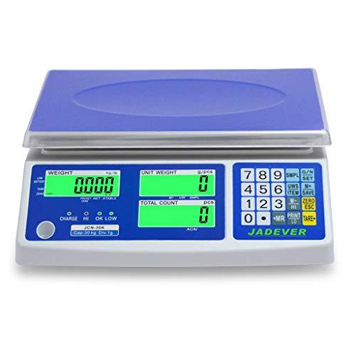 YZSHOUSE Báscula para Electrónica, 0.1G Precisión Recuento De PCS Peso Báscula De Plataforma, Pantalla LCD De Luz De Fondo, 110V-240V, Kg LB Escala Industrial (Capacity : 30kg/1g)
