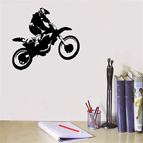 etiqueta de la pared Pegatina Scrambler Motocicleta Dirt Bike Motocross Chopper Ride Niños Chicos Niños Dormitorio