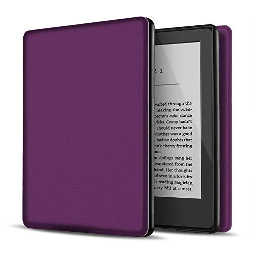 TNP Estuche Nuevo Funda Nuevo para Kindle 10 Generación 2019, Cubierta Ultra Fina y Ligera, Diseño de Sueño Automático, Cierre Magnético, Protección de Caída Golpe Daños Arañazos, Color Púrpura