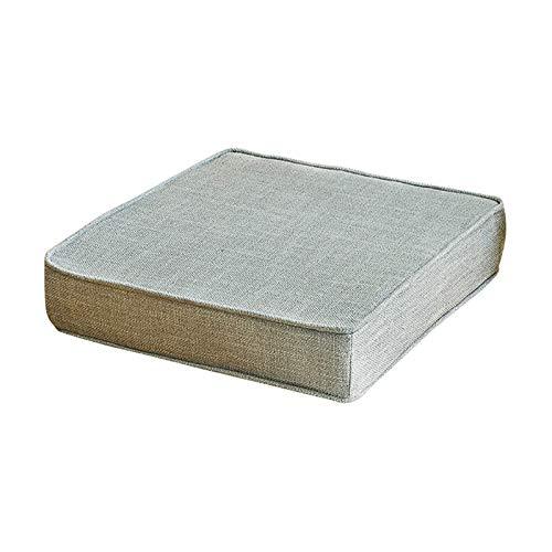 TYHZ Cojines Para Sillas Almohadas de piso de la esponja de lino de algodón, cojín de asiento de silla de color sólido, espesos, almohadillas de deslizamiento para cocina para cocina, sillas de oficin