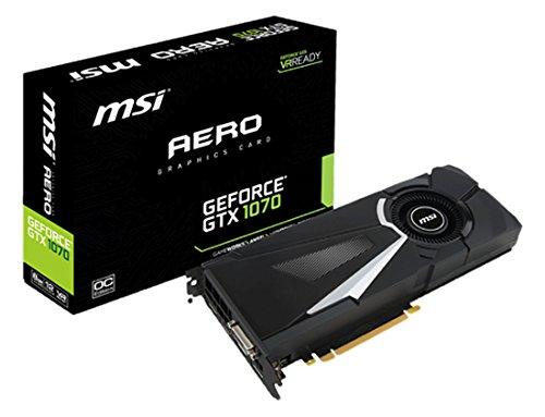 MSI NVIDIA GTX 1070 Aero 8G OC Grafikkarte (HDMI, DP, DL-DVI-D, 2 Slot Afterburner OC, VR Ready, 4K-optimiert)