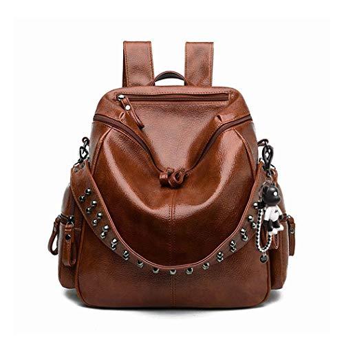 BUKESIYI Women's Backpack Handbags Rucksack Shoulder Bags PU Leather Mini Kawaii Anti-theft CCUK78253 Brown
