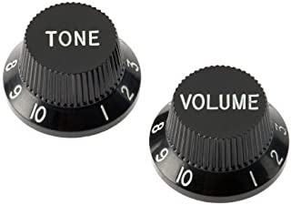 Fender Vintage Modified Mustang Bass Control Knobs, Black