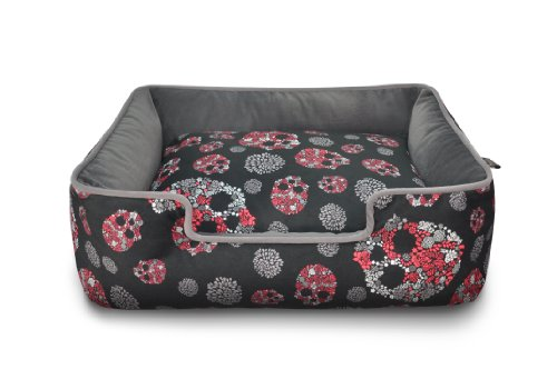 P.L.A.Y – Pet Lifestyle & You PY3009ASF Lounge Bett Skulls & Roses, S