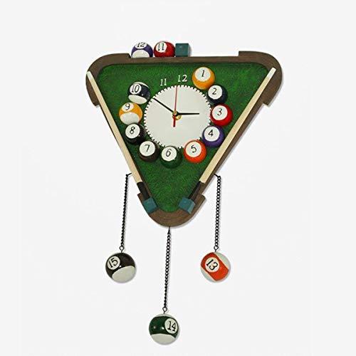 LXYZ Wohnzimmer Wanduhr, Wanduhr Kreative Mode Persönlichkeit Billard Fans Geschenke Silent Billardtisch Uhr Harz
