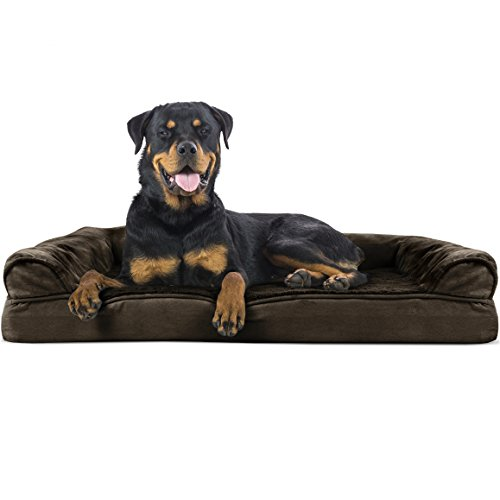 Furhaven Pet Dog Bed - Orthopedic Ultra Plush Faux...