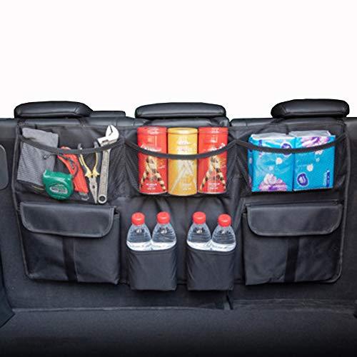 CBPE kofferbak-organizer voor de auto, auto net kofferbak, uitgerust met auto-organizer voor de kofferbak, de beste keuze voor auto-netjes, autostoeltas [sterk elastisch net & 4 magnetronstructuur]