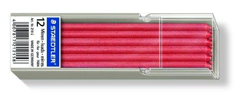 Staedtler Lumocolor 218 - Minas (12 unidades), color rojo