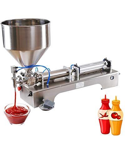 220V Horizontal Single-Head Liquid Filling Machine Stainless Steel Pneumatic Quantitative Liquid Filling Machine-Bee Automatic Distributor,1000 to 5000ml