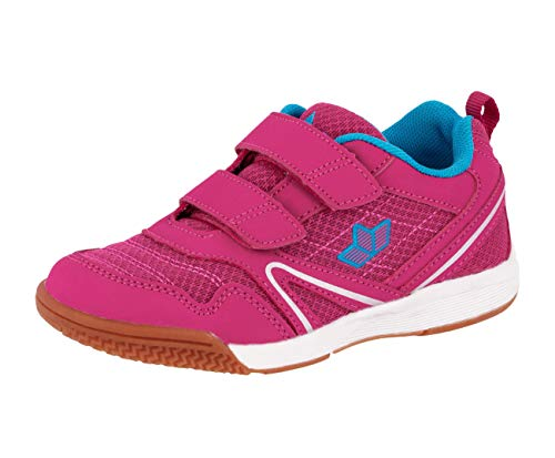 Lico BOULDER V Unisex Kinder Sneaker, Pink/ Türkis, 32 EU