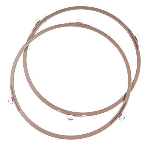YARNOW Mikrowelle Drehring 22cm Durchmesser 1,4cm Rad Universal Mikrowelle Drehteller Glasteller Halter Plattenspieler Ring Stützring Mikrowellen Ersatzteil Zubehör 2 Stück