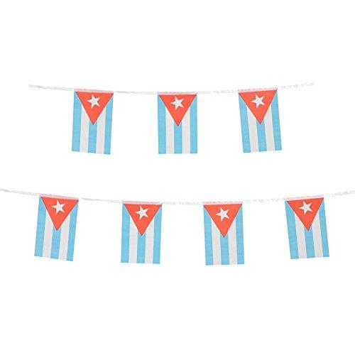 tsmd 100Fuß Kuba Kubanische Flagge, 76pcs National Land World Flaggen Banner, Party Dekoration String für Olympischen Spiele, Bar, Sport Event, Schule Event, Internationales Festival (20,8x 14cm)